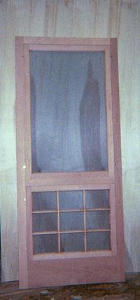 Custom Made Built Wood Storm And Screen Doors Traditional
