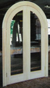... Interior Double Arch Top Door Unit  Single Pane Glass Panel    Restoration Project In Main.