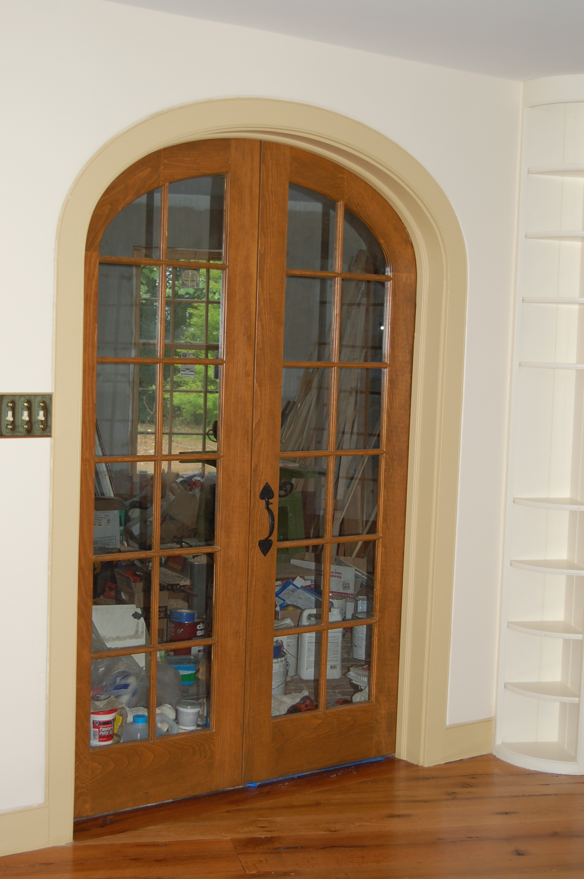 Arch top doors custom made built wood interior exterior for Custom transom