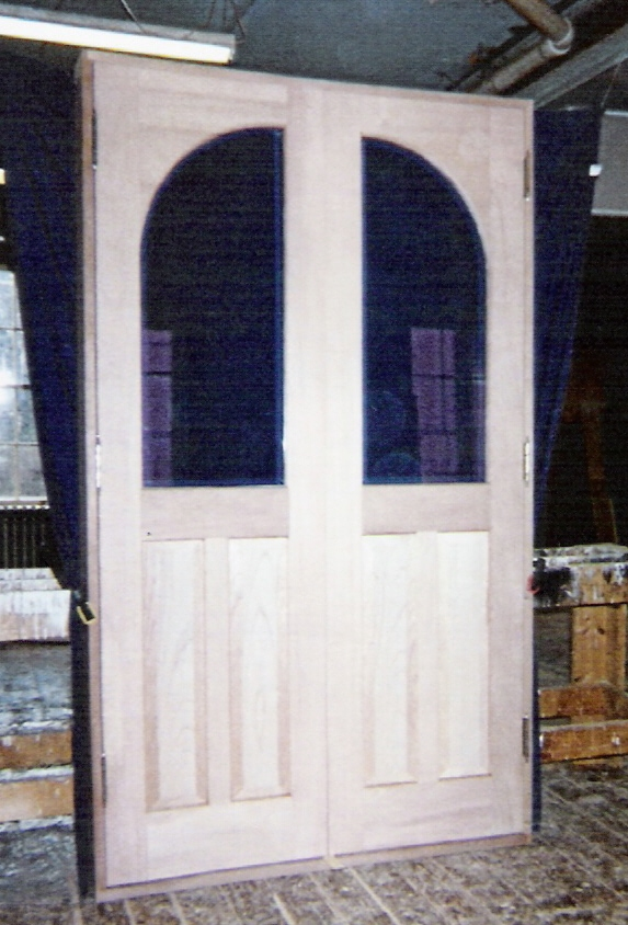 Inner Double Arch Top Entryway Door Unit   Custom Design   Insulated Glass  With Bevel Edge   Project In NY ...