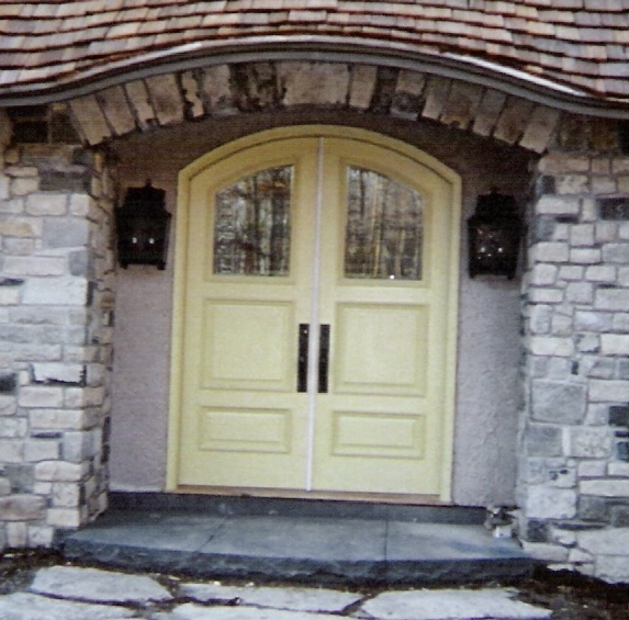 custom wood doors interior exterior french arch top storm screen