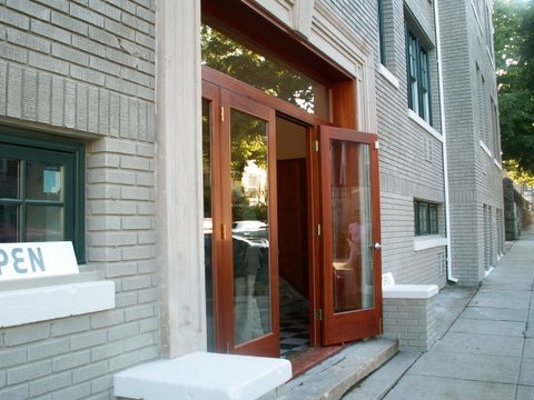 Custom built wood exterior doors entryway arch top for Custom transom windows