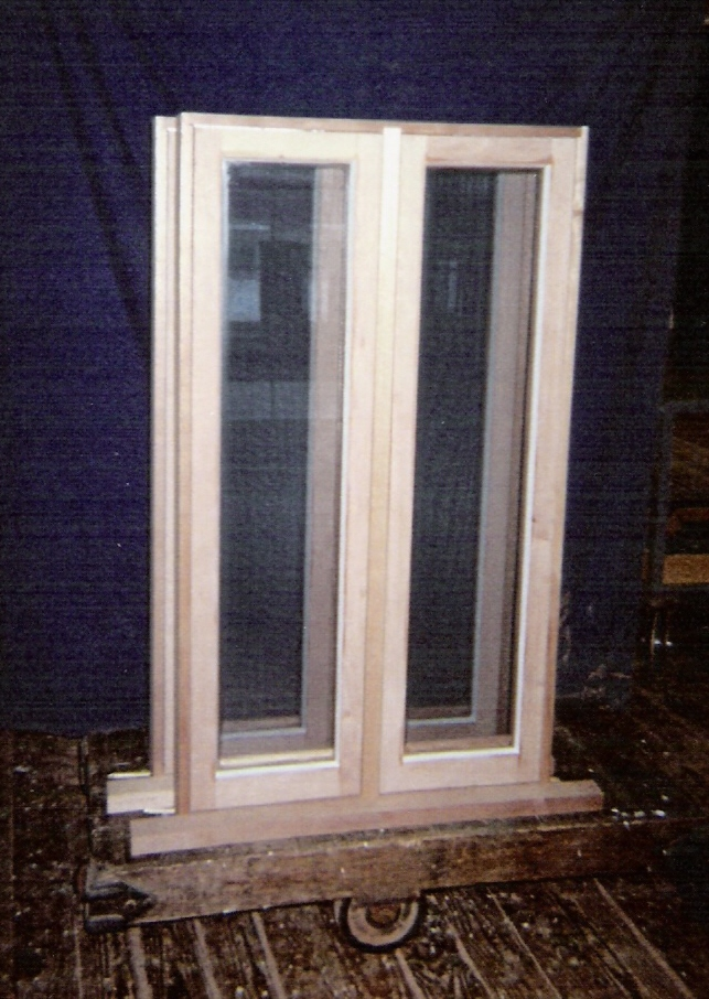 Wood casement and awning windows custom built replacement for Double casement windows