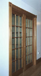 custom built wood french doors interior exterior arch top