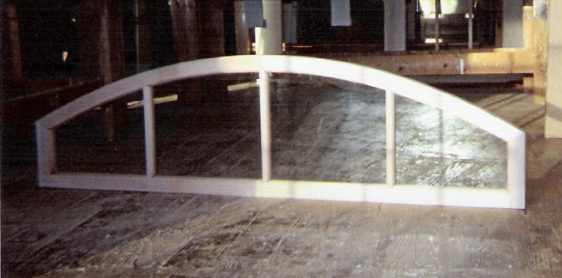 Arch top windows custom built wood sashes traditional for Custom transom windows